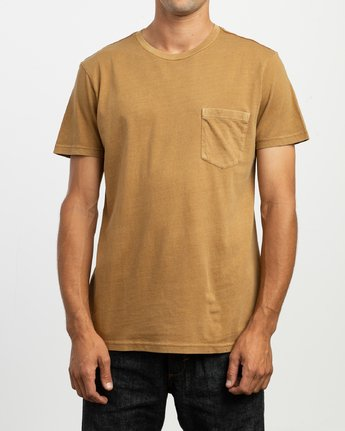 1 PTC 2 Pigment - Knit Top for Men Brown H1KTRCRVP8 RVCA