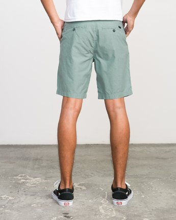 "4 That'Ll Walk Oxford 19"" Walkshorts Green H1WKRXRVP8 RVCA"