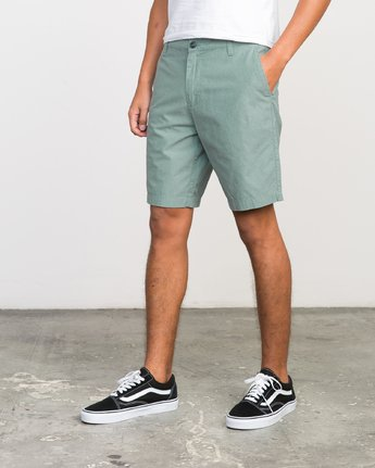 "2 That'll Walk Oxford - 19"" Walkshorts for Men Grün H1WKRXRVP8 RVCA"