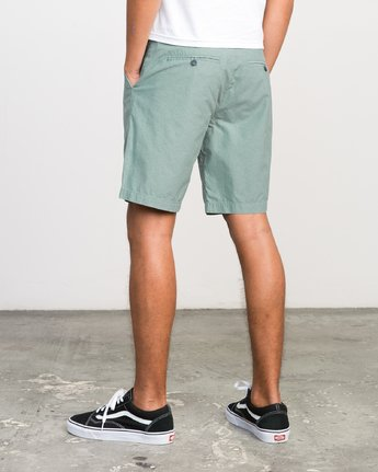 "3 That'll Walk Oxford - 19"" Walkshorts for Men Grün H1WKRXRVP8 RVCA"