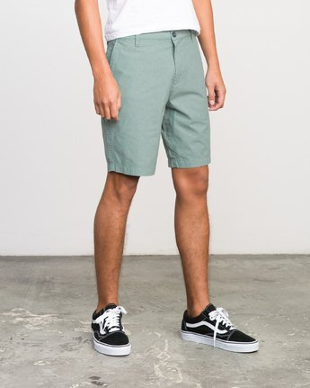 "6 That'Ll Walk Oxford 19"" Walkshorts Green H1WKRXRVP8 RVCA"