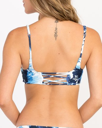 3 PAINT FLOWER BRA Blue H3STJCRVP8 RVCA