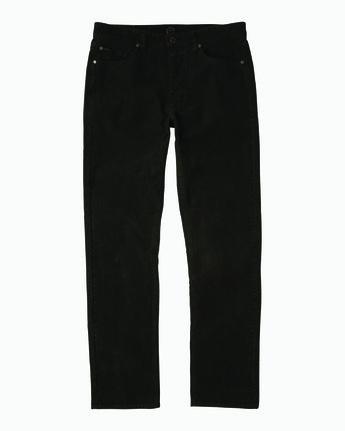 5 Campbell Bros Daggers Pigment - Corduroy Denim Trousers for Men Black L1PNRDRVF8 RVCA