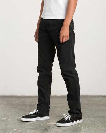 1 Campbell Bros Daggers Pigment - Corduroy Denim Trousers for Men Black L1PNRDRVF8 RVCA