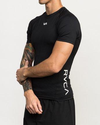 2 Va Performance Short Sleeve Shirt Black L4KTMDRVF8 RVCA