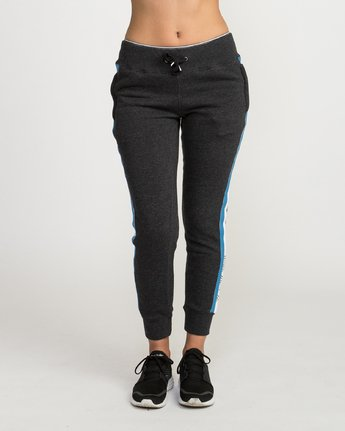1 VA GUARD FLEECE JOGGER Black L4PTWDRVF8 RVCA