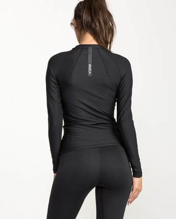 1 VA Compression - Sports Long Sleeves T-Shirt for Women Black L4TPWCRVF8 RVCA