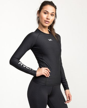 2 VA Compression - Sports Long Sleeves T-Shirt for Women Black L4TPWCRVF8 RVCA