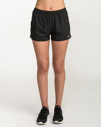 1 Womens Yogger - Sports Stretch Short for Women Schwarz L4WKWCRVF8 RVCA