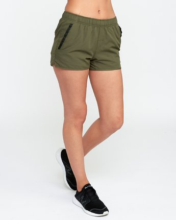 4 VA Sport Yogger Stretch - Short pour Femme Vert L4WKWCRVF8 RVCA