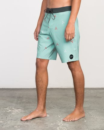 "2 Middle 20"" Boardshort Grey M101PRMI RVCA"