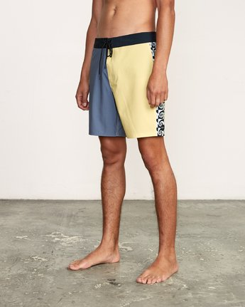 "2 Nash 18"" Boardshort Yellow M101VRNT RVCA"