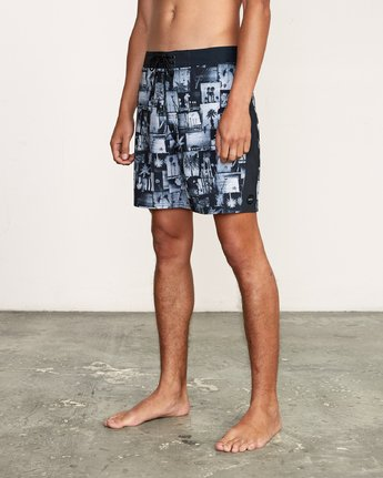 "2 Nash 18"" Boardshort Black M101VRNT RVCA"