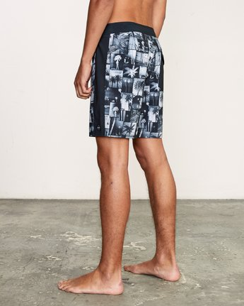 "3 Nash 18"" Boardshort Black M101VRNT RVCA"
