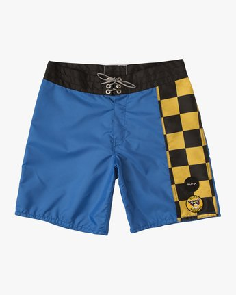 "0 Birdwell Point Panic 18"" Boardshort Blue M102PRPP RVCA"