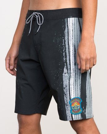 "7 Christian Fletcher 20"" Boardshort Black M103PRCH RVCA"