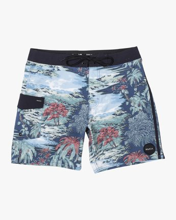 "1 RESTLESS BOARDSHORT 17"" Black M10625RT RVCA"