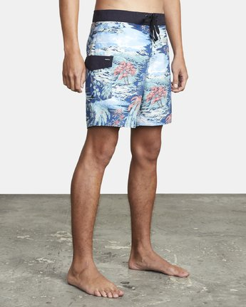 "7 RESTLESS BOARDSHORT 17"" Black M10625RT RVCA"