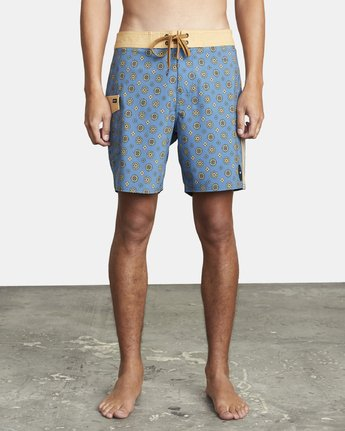 "1 RESTLESS BOARDSHORT 17"" Blue M10625RT RVCA"
