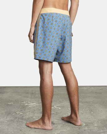 "4 RESTLESS BOARDSHORT 17"" Blue M10625RT RVCA"