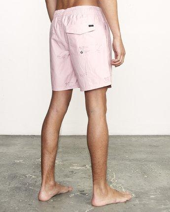 """6 CLUB 17"""" ELASTIC SHORT Pink M1071RCE RVCA"""