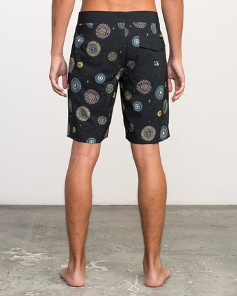 "4 Luke Pelletier 19"" Boardshort Black M110PRPE RVCA"
