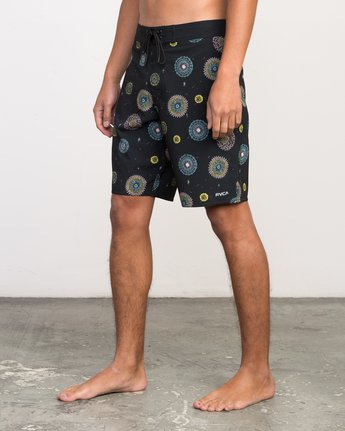"2 Luke Pelletier 19"" Boardshort Black M110PRPE RVCA"