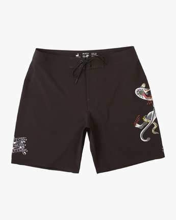 "0 Colin And Bert 19"" Boardshort Black M110URCB RVCA"