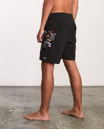 "3 Colin And Bert 19"" Boardshort Black M110URCB RVCA"