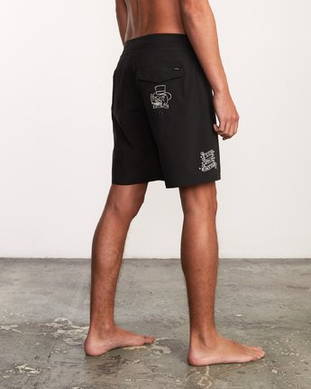 "5 Colin And Bert 19"" Boardshort Black M110URCB RVCA"