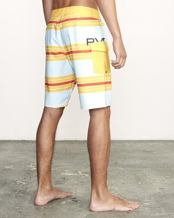 "5 UNCIVIL STRIPED 20"" TRUNK Yellow M1161RUS RVCA"