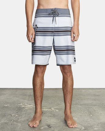 "1 UNCIVIL STRIPED 20"" TRUNK Grey M1161RUS RVCA"