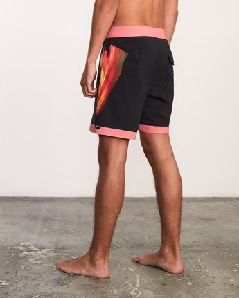 "3 Alex Knost 17"" Boardshort Pink M122URAK RVCA"