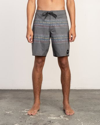 "1 Double Vision Striped 19"" Boardshort Black M162TRDO RVCA"