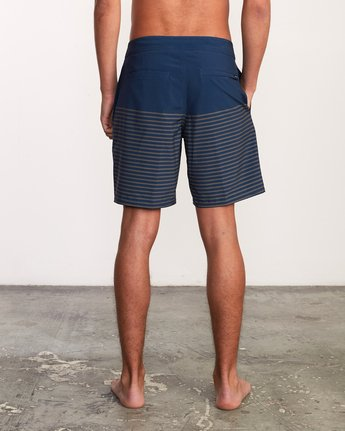 "4 Curren Caples 18"" Boardshort Blue M163TRCU RVCA"