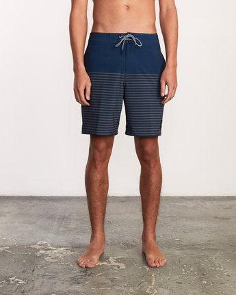 "1 Curren Caples 18"" Boardshort Blue M163TRCU RVCA"