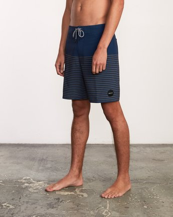 "2 Curren Caples 18"" Boardshort Blue M163TRCU RVCA"