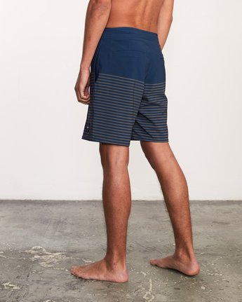 "3 Curren Caples 18"" Boardshort Blue M163TRCU RVCA"