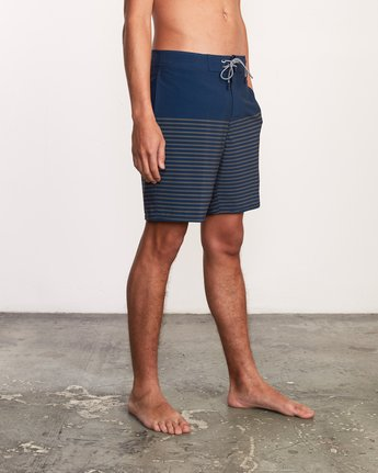 "6 Curren Caples 18"" Boardshort Blue M163TRCU RVCA"