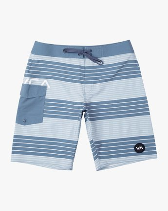 "0 Uncivil Stripe 20"" Boardshort Blue M164TRUN RVCA"