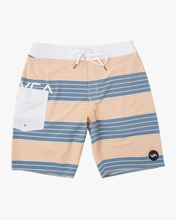 "0 Uncivil Stripe 20"" Boardshort Orange M164TRUN RVCA"
