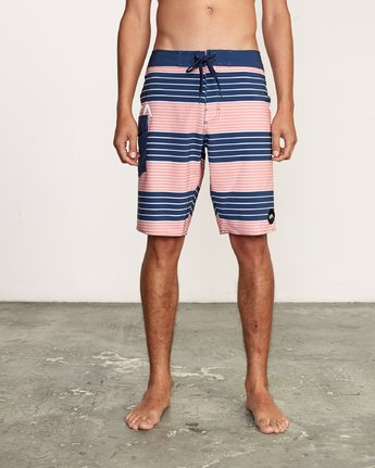 "1 Uncivil Stripe 20"" Boardshort Grey M164TRUN RVCA"