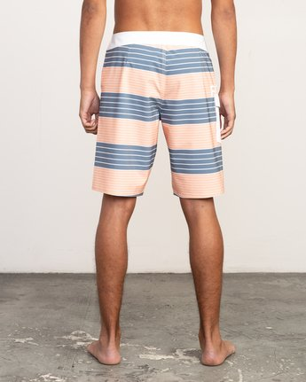 "4 Uncivil Stripe 20"" Boardshort Orange M164TRUN RVCA"