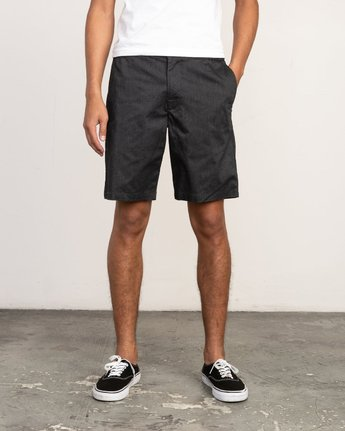 """1 All Time Session 19"""" Short Blue M201TRSE RVCA"""