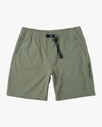 "0 All Time Arch II 18"" Hybrid Short Green M201URAH RVCA"