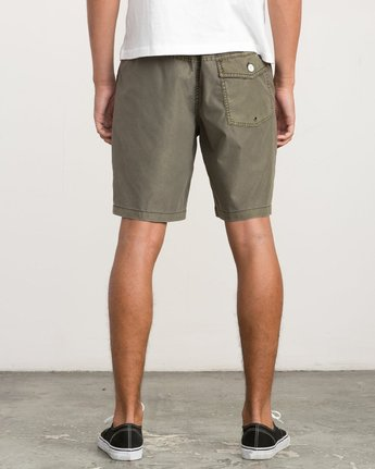 4 Canvas All Time Hybrid Short Brown M202QRCA RVCA