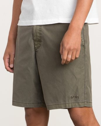 7 Canvas All Time Hybrid Short Brown M202QRCA RVCA