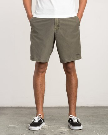 1 Canvas All Time Hybrid Short Brown M202QRCA RVCA