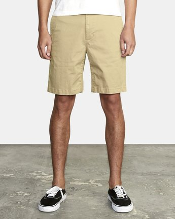 "6 DAGGERS 19"" CHINO SHORT Purple M202TRDC RVCA"