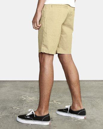 "9 DAGGERS 19"" CHINO SHORT Purple M202TRDC RVCA"
